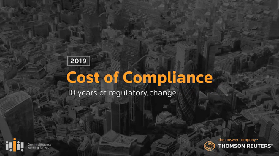 Thomson Reuters Cost of Compliance 2019 - Q & A with the Authors